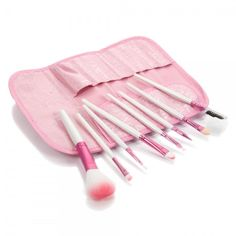 8pcs Professional Cosmetic Makeup Brush Set with Case Pink