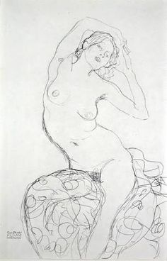 Seated Nude by Gustav Klimt on Curiator, the world's biggest collaborative art collection. Figure Sketching, Figure Drawing, Art Klimt, Art Sketches, Art Drawings, Franz Josef I, Art Graphique, Life Drawing, Figure Painting