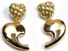 19 GRAMS STYLISH 18K   GOLD  2 TONE   EARRING 19  GRAMS  6 gold earrings , 18k gold jewlery , gold jewlery , gold necklace