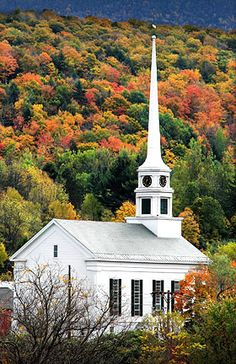 Stowe, Vermont. (Hey, I've been there! I didn't go inside this church when I was in Stowe, but I do remember seeing it -- or at least one that looked a lot like it!)
