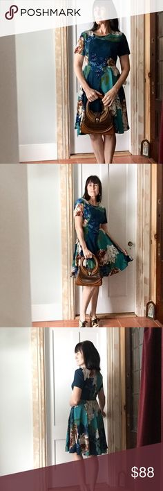 """Gorgeous coreylynncalter dress So pretty- a vision of flowers, fitted to the waist (25"""") relaxed through hip, darts at bust, back zip sticks a bit at the waist and then moves on by (same as at purchase) worn twice, approx 32"""" long, tts Anthropologie Dresses"""