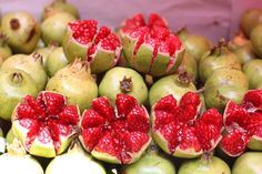 Pomegranates at the tianguis in Mexico City