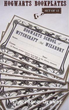 Hogwarts Bookplates