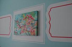 Love the details in this DIY girls' bedroom.