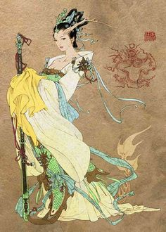 Long Nu 龙女 - Dragon Lady; The Dragon Princess able to control the weather and causing disaster in sea.