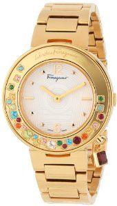 Ferragamo Gold ladies Dress Watch #ferragamo #luxurywatchesforwomen