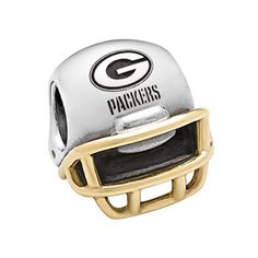Green Bay Packers Pandora 2-Tone Helmet Charm at the Packers Pro Shop http://www.packersproshop.com/sku/2210589100/