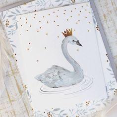 Swan Birthday Party Invitation by KelliMurrayArt on Etsy https://www.etsy.com/listing/224381471/swan-birthday-party-invitation