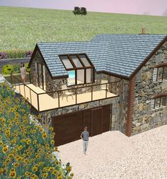barn courtyard extensions - Google Search Style At Home, Garage Extension, Four Seasons Room, Garage Roof, Carport Designs, European House, House Elevation, House Extensions, Sunroom
