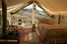 """Everyone here at HybraLec has their own way of camping. This is how  i would choose to camp..... """"glamping"""" glamorous camping, sounds good to me! - Emma"""