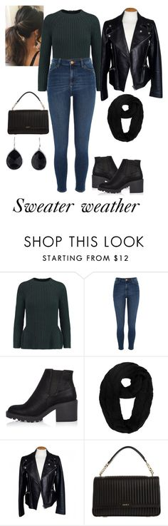 """Untitled #402"" by tshyra ❤ liked on Polyvore featuring Iris & Ink, River Island, Alexander McQueen, DKNY and Ippolita"