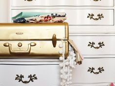 HGTV.com shows you how to transform a dated vinyl suitcase with a few coats of spray paint in your favorite color.