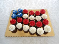 US Flag cupcakes - Fourth of July