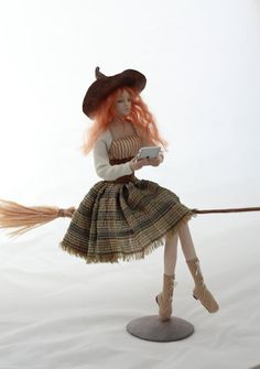 Artist doll  iWitch OOAK handmade halloween by NataliyaPlatova, $230.00