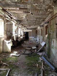 Abandoned sanatorium in Québec.  If walls could talk....