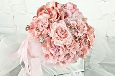 fake bouquets for wedding pink vintage   Cheap Artificial Wedding Bouquets Online  Wedding Flower Bouquets