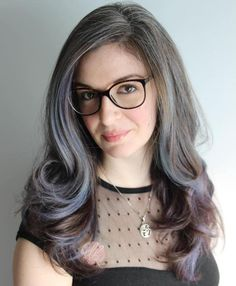 Bluish Gray Highlights For Brown Hair