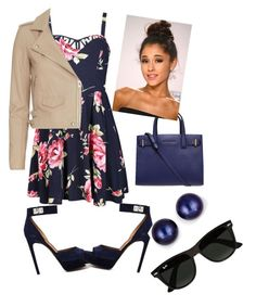 """""""Untitled #24"""" by kayla-daniels on Polyvore featuring Ally Fashion, IRO, Givenchy, Kurt Geiger, Kevin Jewelers and Ray-Ban"""
