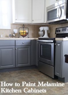 I have to honestly say, I have never had the guts to recommend that a client paint melamine, thermofoil, or laminate kitchen cabinets.  This type of cabinetry is often found in lower-end kitchens – melamine and thermofoil are similar plastic materials that are applied over particleboard or MDF to inexpensively simulate the look of painted wood. …