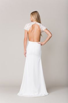 Sarah Seven collection - Orleans Lace & Crepe gown #sarahseven #sarahsevenloveclub #bridal