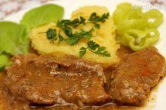 Bravčové plátky na šťave s korením gyros Good Food, Yummy Food, Meatloaf, Pork, Food And Drink, Menu, Cooking Recipes, Snacks, Chicken
