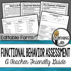 How To Conduct A Functional Assessment  Develop Behavior Plans To
