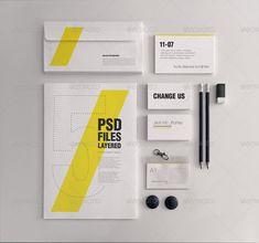 Realistic Stationery Mockups Set #psd #photoshop #mockup #stationery #identity #branding #logo #business #card #letterhead