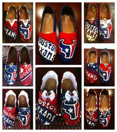 Handpainted Houston Texans TOMS Shoes by TheCraftyAttique on Etsy, $115.00