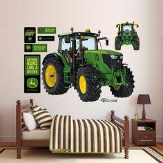 John Deere 6210R Tractor Wall Decals by Fathead, Multicolor