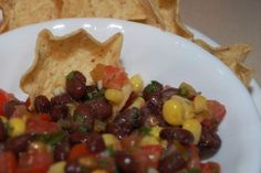 Black Bean Salsa from Once a Month Mom | OAMC from Once A Month Meals