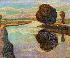 Landscape with canal by Jean Theodoor Toorop (1858-1928, Indonesia)
