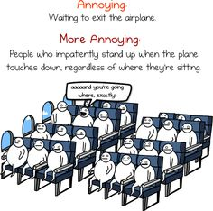 stuff we put up with getting on and off an airplane... so true!