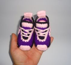 Crochet Nike inspired tennis shoes , handmade , crocheted , swoosh , crocheted , baby , booties , shoes , baby nike , photo prop , sneakers by BABYCROCHETfashion on Etsy