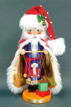 Santa puppeteer with marionette