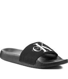 Slapi Calvin Klein Barbati Negri Womens Flats, Open Toe, Flip Flops, Calvin Klein, Slippers, Sandals, Heels, Black, Fashion