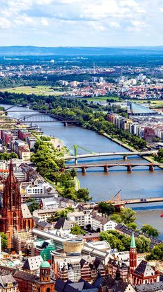 Panorama of the financial district in Frankfurt, Germany       23 Fascinating Photos that Will Remind You How Incredible Germany Is