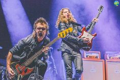 Glenn Hughes (vocals, bass), & Andrew Watt (guitar, vocals) of CALIFORNIA BREED live onstage @ Wembley Arena in London, UK ~ Tuesday, December 2nd, 2014. #CaliforniaBreed