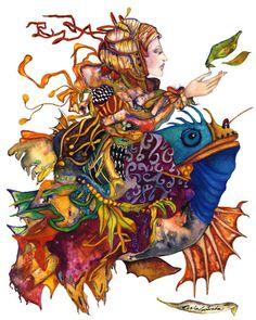 PERLA ESTRADA,pintora mexicana.