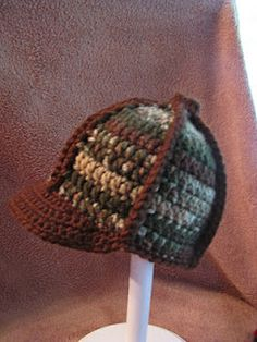 crocheted camo ball cap....would love to see the trim in pink 97b31b8e6ac8
