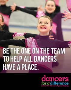 Be the one on the team to help all dancers have a place. Learn more at: https://www.justforkix.com/dancersforadifference