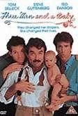 Three Men and a Baby (1987). [PG] 102 mins. Starring: Tom Selleck, Steve Guttenberg, Ted Danson, Nancy Travis, Margaret Colin, Earl Hindman, Celeste Holm and Colin Quinn