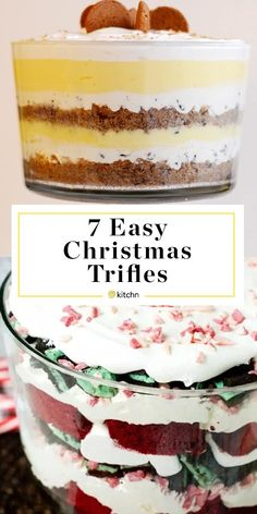 7 Christmas Trifles That Belong on Your Dessert Table - 7 Trifles for Your Dessert Table Roundup. Need bake and take ideas for easy to transport desserts f - Christmas Trifle, Christmas Deserts, Christmas Baking, Merry Christmas, Trifle Bowl Recipes, Trifle Recipe, Dessert Recipes, Peppermint Cheesecake, Chocolate Chip Cheesecake