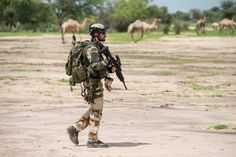 French commando in Mali (probably from the Air force commandos), 2013.