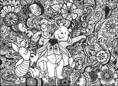 Pooh Bear and Friends Floral Design by byjamierose on Etsy