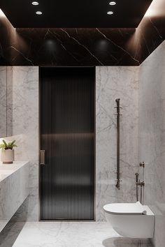 Bathroom Design Luxury, Modern Bathroom, Home Interior Design, Interior Architecture, Powder Room Decor, Bathroom Toilets, Bathrooms, Small Apartment Design, Restroom Design