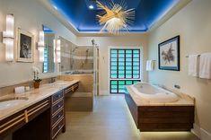 iluminación LED en el baño moderno