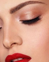 I love a subtle eye with a red lip! but maybe not quite that bright