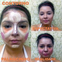 Clown contouring... Expectation x reality. #fail