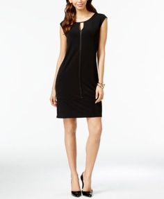 Alfani Satin-Trim Cap-Sleeve Dress, Only at Macy's    macys.com