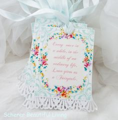 15 Wedding Rose Shabby Lace French Chic Hang Tags Gift Labels Wedding Bride Shower